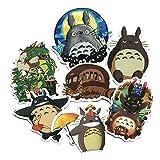 Yharadraf Aufkleber Auto, Totoro 7 Stuck Ghibli Dekor-Aufkleber fürs Autofenster Fensterssticker, Auto Motorräder Fahrrad Skateboard Snowboard Gepäck Laptop Aufkleber MacBook iPad und Mehr