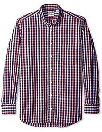 Gitman Blue Men's Check Button Down Sport Shirt