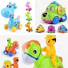 Cartoon Cars - Set of 3 - Giraffe, Horse and Dog Car