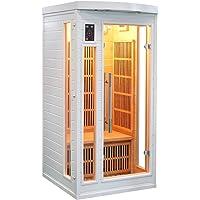 Sauna cabine infrarouge soleil blanc 1 place Sn-SOLEILBL1