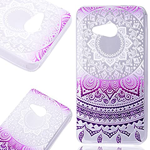 Nokia 550 Case Smartlegend Microsoft Nokia Lumia 550 Smartphone Rubber Soft Cover TransParent Gradient Color Tribal Mandala Floral Clear Ultra Thin Silicone Full Body Lightweight Mobile Phone Protective