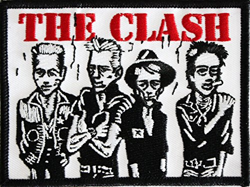 """THE CLASH Caricature, Officially Licensed Original Artwork, High Quality Iron-On / Sew-On, 3"""" x 4"""" Embroidered PATCH toppa"""