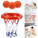 XUNKE Jouets pour Le Bain , Panier de Basket pour Le Bain Amusant pour Enfants et Tout-Petits avec 3 Balles, Jeu de tir pour