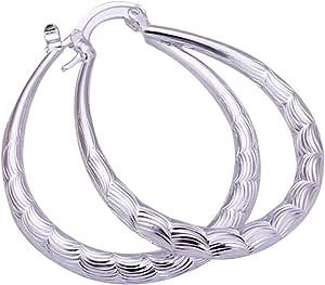 Amesii, orecchini a cerchio in argento Sterling 925, a forma di U, gioiello alla moda da donna