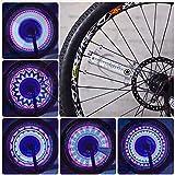 Asenart Bunte Led Fahrrad Rad Licht Bike Radfahren Streifen Reifen Licht Bunte Fahrrad Reifen Zubehör Radfahren Speichen Led Neon Diy Programmierbare Fahrrad-Ausrüstung