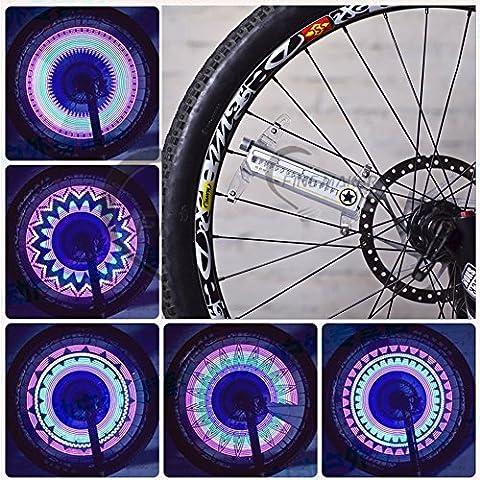 Asenart Colorful Led Bicycle Wheel Light Bike Cyclisme Strip Tire Light Colorful Bicycle Tire Accessoires Cycling Spoke Led Neon Diy Équipement de vélo programmable