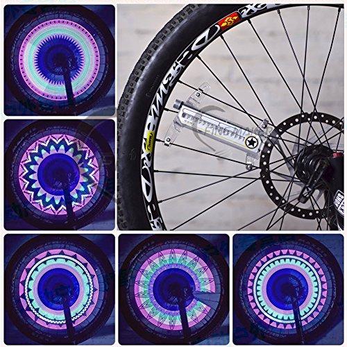 Asenart Bunte Led Fahrrad Rad Licht Bike Radfahren Streifen Reifen Licht Bunte Fahrrad Reifen Zubehör Radfahren Speichen Led Neon Diy Programmierbare Fahrrad-Ausrüstung (20 Zoll Felgen Und Reifen-pakete)
