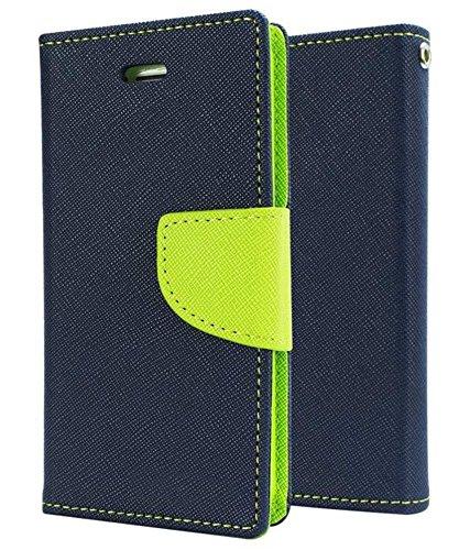 Delkart Book Style Flip Cover For Samsung Galaxy Grand Max/ Grand 3 (Blue & Green)