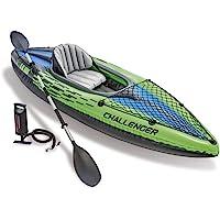 INTEX K1 Challenger canoë Kayak 68305 pour 1 Personne, Gonflable, avec pagaie