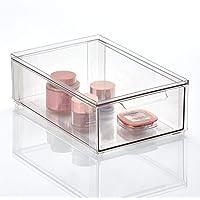 mDesign rangement maquillage – boite maquillage pratique avec couvercle en plastique – boîte en plastique pour le…