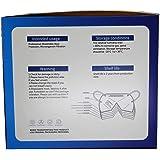 Mascherine FFP3 Certificate CE, Mascherina 5 Strati Senza Valvola, Maschera Facciale Protezione da Polvere e Antiparticolato,