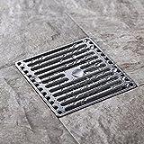 Square Edelstahl Bodenablauf Deo Belt Abnehmbare Abdeckung Drain Pinzette Große Verschiebung Dusche Badezimmer, gebürstet Oberfläche