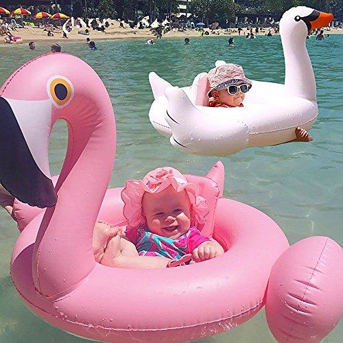 HuntGold Sommer Säugling Baby aufblasbare weißer Schwan Pool Schwimmsitz Schwimmen Ring