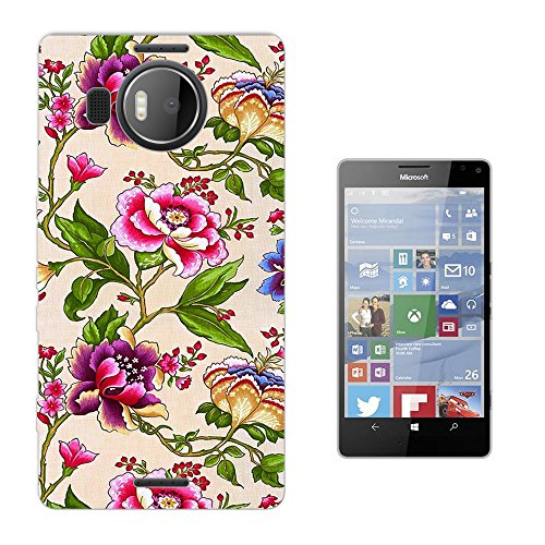 002724 - Floral Wallpaper Shabby Chic Floral Roses flowers Design Microsoft Nokia Lumia 950 XL Fashion Trend Silikon Hülle Schutzhülle Schutzcase Gel Rubber Silicone Hülle