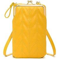 Damen Handy-Umhängetasche,PU Leder Geldbörse Damen Brieftasche Crossbody Schultertasche Reisepass Handytasche mit…