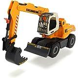 Dickie Toys 203726001 - Excavator, Bagger mit batteriebetriebenem Schaufelarm, 32 cm