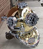 nauticalmart Vintage Morse USA Navy Tauchen Helm massivem Messing und Aluminium-Größe