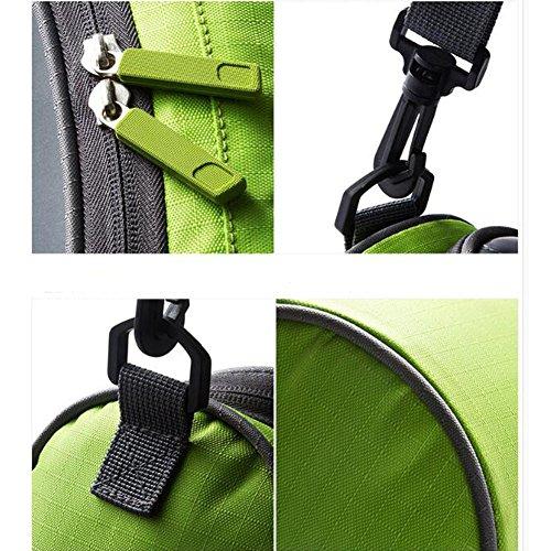 Lenkertasche, NTMY Wasserdichte Fahrradtasche mit transparentem PVC-Beutel und abnehmbarem Schultergurt Grün