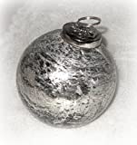 Christbaumkugel aus Glas silber 8 cm 6er-Set