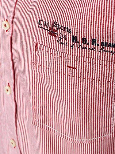 CASAMODA Chemise de travail Col chemise classique Manches longues Homme Rouge