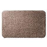 casa pura® Eingangsmatte aus 100% Baumwolle   hohe Schmutz- und Feuchtigkeitsaufnahme   beige - meliert   60x100cm