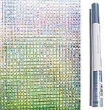 Zindoo Pellicole Adesive Colorate Pellicola per Finestre Decorativa 3D Pellicola Privacy Carta Adesiva per Vetri Impermeabile per Vetro Scorrevole Doccia 44.5 x 200 Centimetro