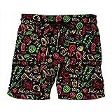 CH&LU-Pantaloncini da Spiaggia, Pantaloncini da Bagno da Uomo, Impermeabili E Impermeabilispiaggia Libera Località Balneare Isola @ Ps028L