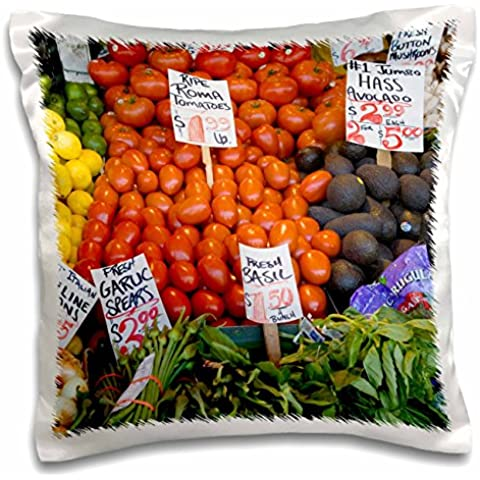 Danita Delimont - Markets - WA, Seattle, Produce at the Pike Place Market - US48 JWI2205 - Jamie and Judy Wild - 16x16 inch Pillow Case (pc_96180_1)
