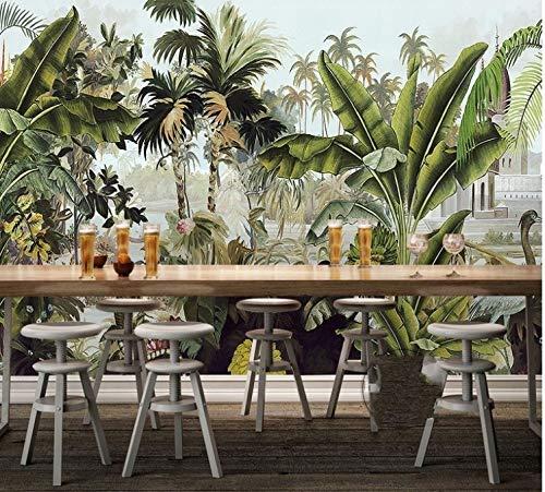 YiShuQiang Wallpaper Fototapeten Tropische Regenwald-Anlage 3D Tapetens Wandbilder Wohnzimmer Schlafzimmer Büro Flur Dekoration Fototapetens