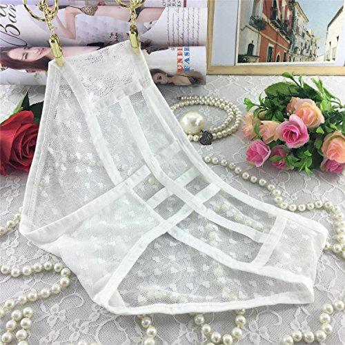 YALL-Frauen / Damen Low-Cut-Spitze Unterwäsche dünne Hohl japanischen Frauen-Unterwäsche Dreieck Gürtel White