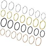 Goldchic Jewelry 3-28 Pezzi 1mm Anello Midi Da Donna Impilabile, Set Di Anelli a Fascia Normale In Acciaio Inossidabile, Misu