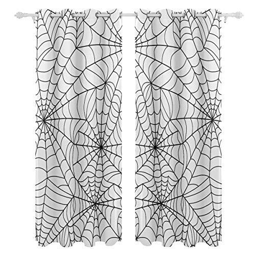 au Spinnennetz Einseitiger Druck Blackout Vorhänge Vorhänge Fensterbehandlung Duschvorhang Panels Für Schlafzimmer Wohnzimmer Küche Bad 55 X 78 Zoll 2 Stücke ()