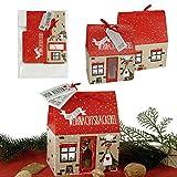 12 x Geschenkbox Kekshaus für Plätzchen (vier Modelle sortiert) Verpackung für Kekse