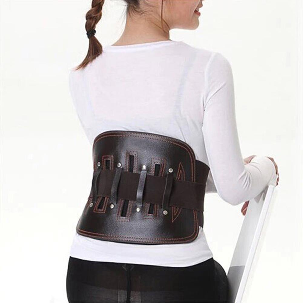 HZF Cintura di protezione posteriore in pelle Lumbar Brace - Cintura di supporto della vita per allu