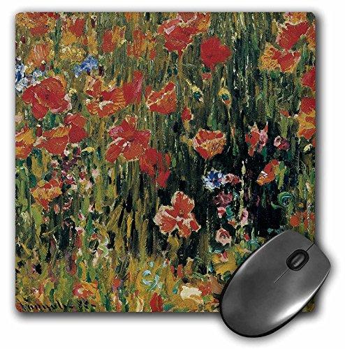 3drose LLC 20,3x 20,3x 0,6cm Maus Pad, Mohn von Robert Vonnoh Impressionismus Flower Garden (MP _ 126528_ 1)
