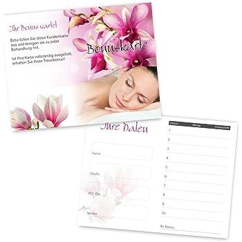 50 Kosmetikstudio Kundenkarten Styling Mit 10 Feldern Und