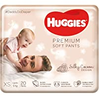 Huggies Premium Soft Pants, Extra Small / New Born (XS / NB) size newborn baby diaper pants, 20 count, Mom's No.1 choice…