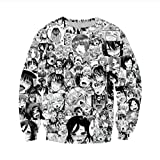 Unisex Anime Ahegao Red Face 3D Druck T-Shirt/Hoodie / Sweatpants/Pullover