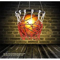 HEYUN Nordic personalidad creativa de la lámpara de la vendimia con temas restaurante bar país de América araña de baloncesto artes del arte