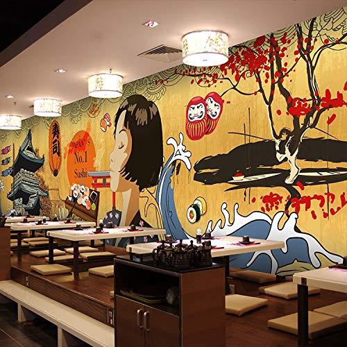 Papel tapiz Art Foto Mural WJbxx Foto Papel Pintado Estilo Japonés Restaurante Retro Edificio Olla...