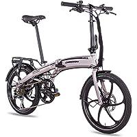 CHRISSON 20 Zoll E-Bike Klapprad eFolder hellgrau - E-Faltrad mit AIKEMA Nabenmotor 250W, 36V, 30 Nm, Pedelec Faltrad…