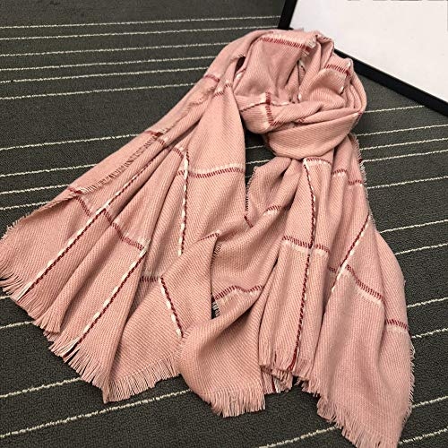 Lostryy Der Lange Starke warme Schal der Frauen/Lätzchen / Schal/großer dekorativer Schal der Art- / Feiertags-Paare im Freien, rosa