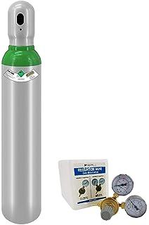 Gasdruckminderer Gasregel Ventil 20 Ltr Gasflasche gefüllt WIG NEUE Argon 4.6