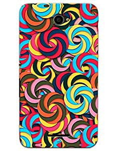 Sony Xperia E4 Cases & Covers - Overlapping Circles Case by myPhoneMate - Designer Printed Hard Matte Case - Protects from Scratch and Bumps & Drops.