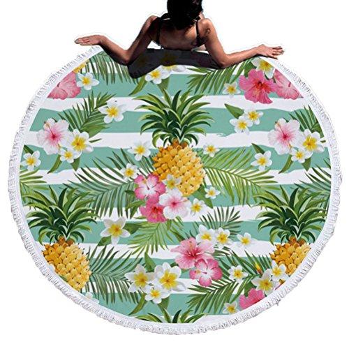 Super Weich und saugstark Flamingo Ananas bedruckt rund Strand/Handtuch, Decke 4 (Beach Handtuch Cabana)