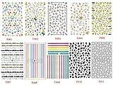 AIUIN 10 Stück Nail Art Plates Stamping Water Transfer Nagel Sticker Wasser Aufkleber Tattoo Nageldesign Maniküre Vanyda Stempel Schablonen