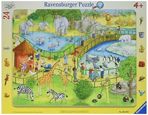 Ravensburger Rahmenpuzzle 06583 Viel Spaß im Zoo Puzzle