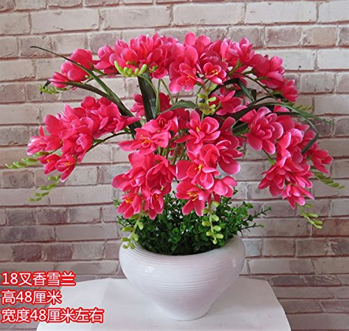 LIXIAOXIN Butterfly Orchid Bonsai False Dekoration Simulation Ornamente Topfpflanzen Rose Rot