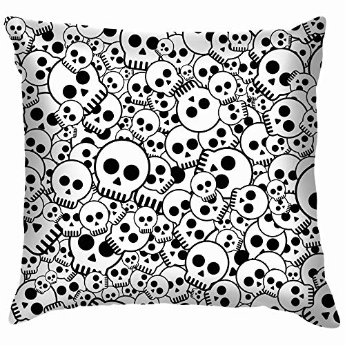 vintage cap Skulls Skull Illustrations Clip Art Funny Square Throw Pillow Cases Cushion Cover for Bedroom Living Room Decorative 18X18 Inch