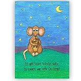 """Trauerkarte Kind Baby Beileid """"Es gibt keine Worte dafür, zu sagen, wie sehr du fehlst."""" Beileidskarte, Beileid, Trauer, Kondolenzkarte, Abschied nehmen, Beileidskarte mit Umschlag"""